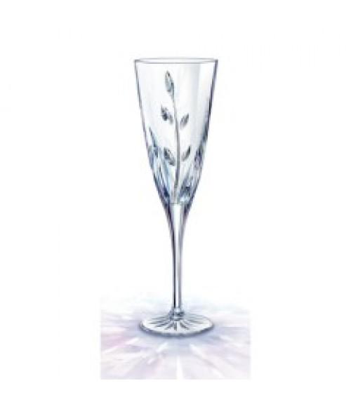 Cassandra Champagne Flute Cut Crystal - Pair