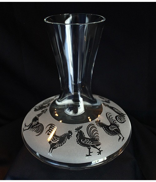 The Year of the Rooster Wine Carafe