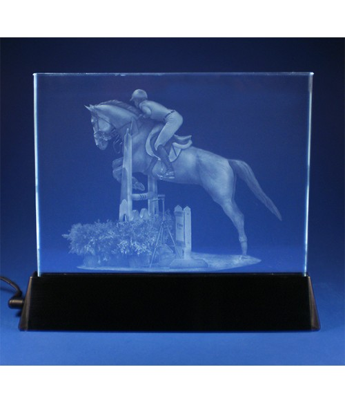 Equestrian Jumper on Luminary Base, Sub-Surface Laser