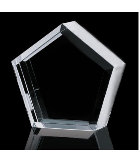 Optic Crystal Pentagon Paperweight