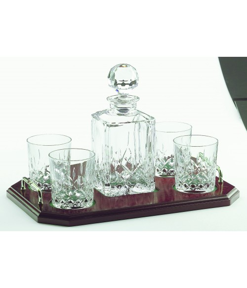 Galway Longford Square Decanter Tray Set