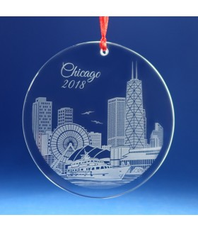 Chicago Ornament / Suncatcher - Navy Pier w/ John Hancock