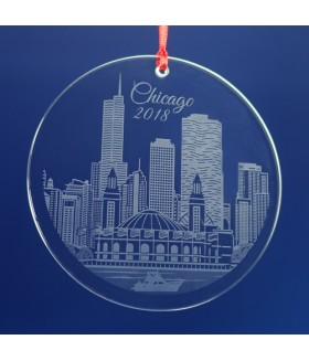 Chicago Ornament / Suncatcher - Navy Pier