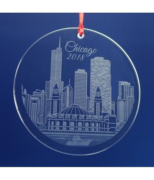 Chicago Ornament / Suncatcher - Navy Pier