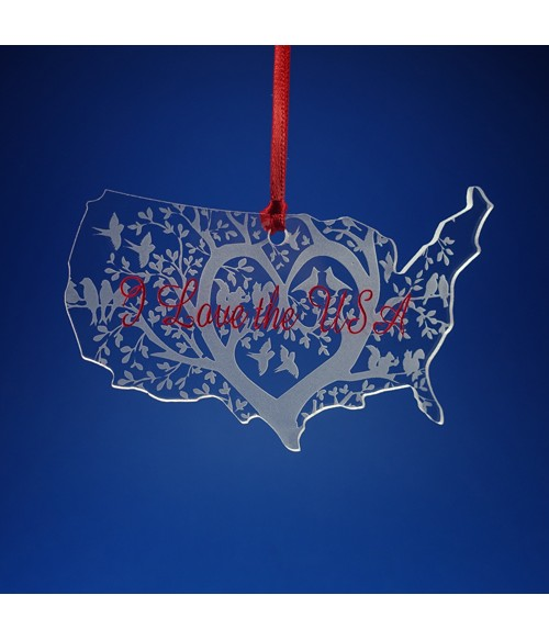 I love the USA Ornament / Suncatcher