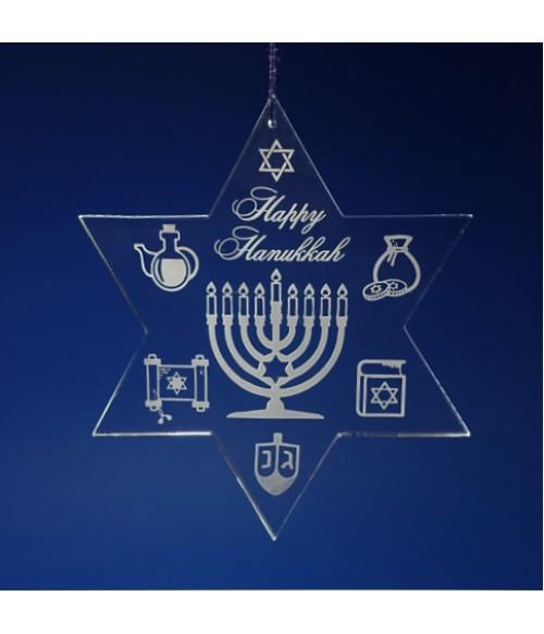 Happy Hanukkah Star