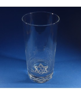 Star of David Hiball Glass