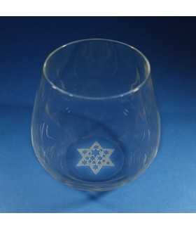 Star of David Stemless Wine Glass