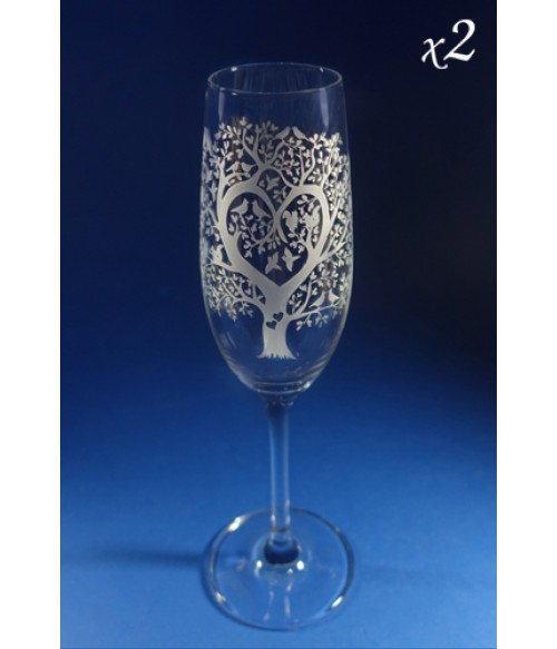 Champagne Lovers - Pair of Flute Glasses