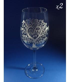 Wine Lovers - Pair of Wine Glasses