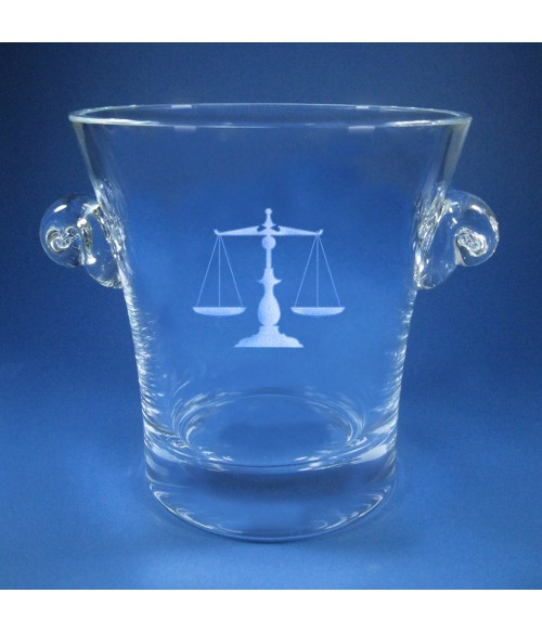 Chelsea Ice Bucket Small with Scales of Justice