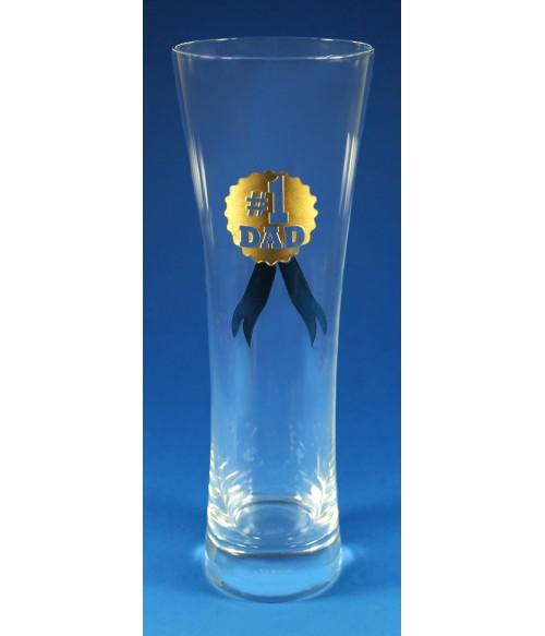 #1 Dad Beer Glass