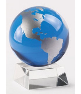 Blue and Silver Globe on Stand