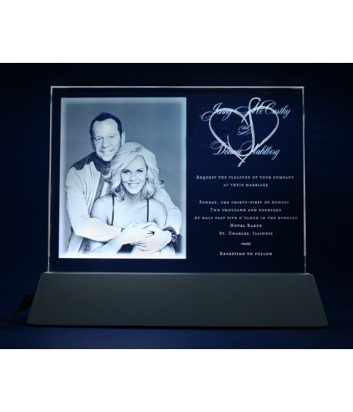A Laser Engraving for the McCarthy Wedding