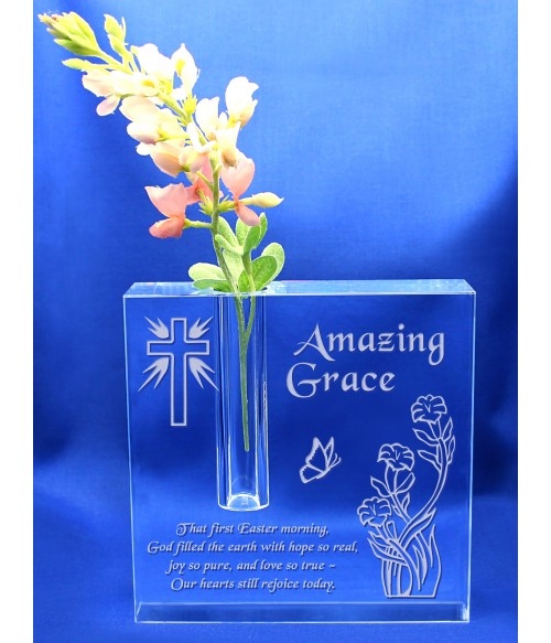 Amazing Grace Block Bud Vase