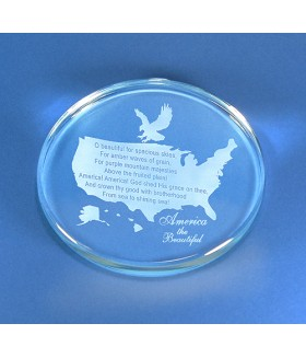 America the Beautiful Paperweight