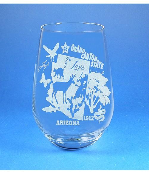 Arizona Stemless Wine Glass