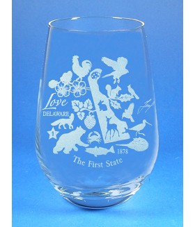 Delaware Stemless Wine Glass