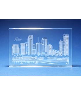 Miami Skyline Paperweight
