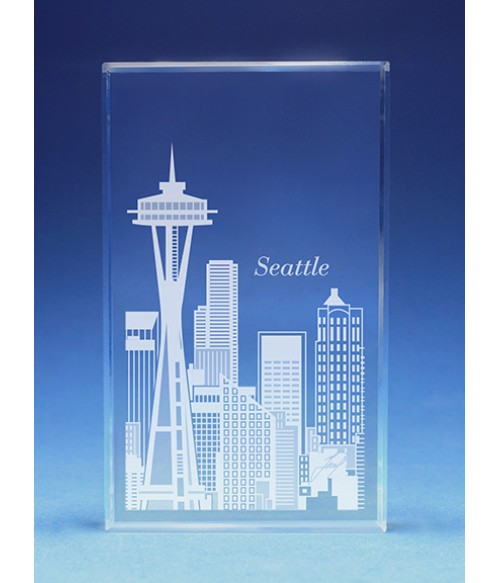 Seattle Skyline Paperweight