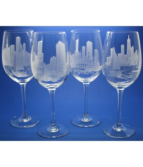 Chicago Skylines Set of 4 Glasses