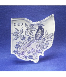 Ohio Paperweight with State Bird