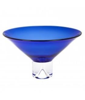 Monaco Pedestal Bowl Cobalt, Small