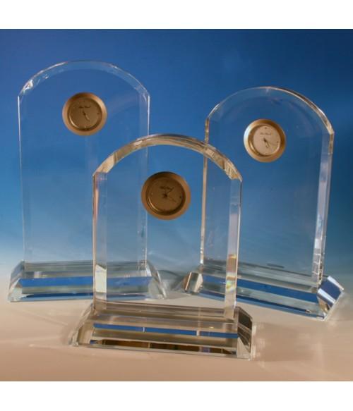 Arched Optic Crystal Clocks