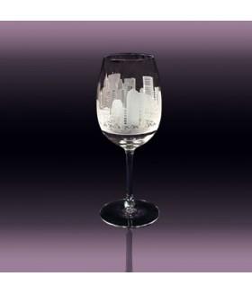 New York Manhattan White Wine Glass