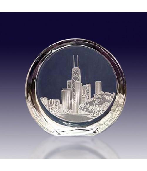 Chicago Skyline Slanted Disk