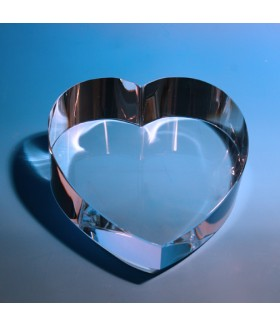Large Slanted Heart Paperweight