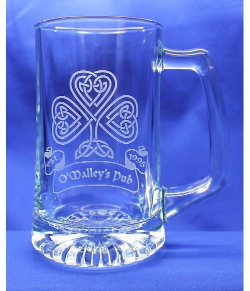 Beer Mug Medium w/ Personalized Celtic Design