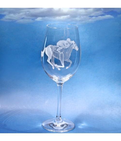 Rising Thoroughbred Wine Glass