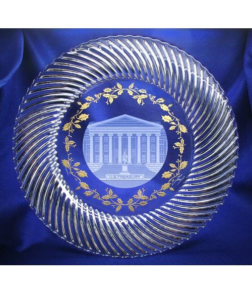 U.S. Treasury Crystal Plate