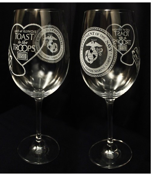 Toast to the Troops Set of 2 Glasses